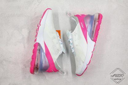 Nike Air Max 270 White Aluminum Grey-Pink shoes