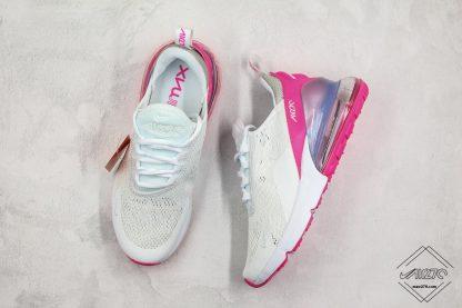 Nike Air Max 270 White Aluminum Grey-Pink sneaeker