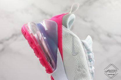 Nike Air Max 270 White Aluminum Grey-Pink sole