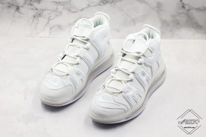 Nike Air More Uptempo 720 All White side look