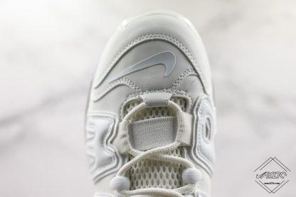 Nike Air More Uptempo 720 All White toe swoosh