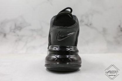 Nike Air More Uptempo 720 Triple Black heel