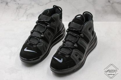 Nike Air More Uptempo 720 Triple Black toe