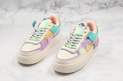 AF1 Shadow Pale Ivory Celestial Gold-Tropical Twist shoes