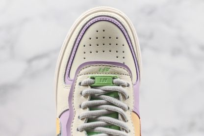 AF1 Shadow Pale Ivory Celestial Gold-Tropical Twist toe