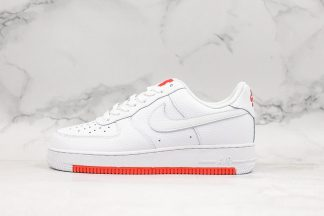 Nike Air Force 1 White-Habanero Red