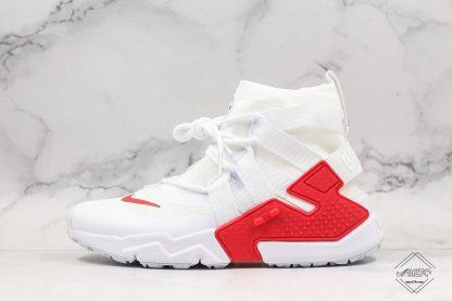Nike Air Huarache Gripp White University Red