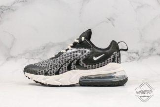New Style Nike React Air Max 270 React Black White