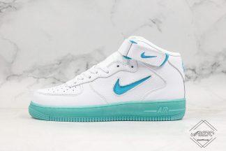 Nike Air Force 1 Mid White Artisan Teal