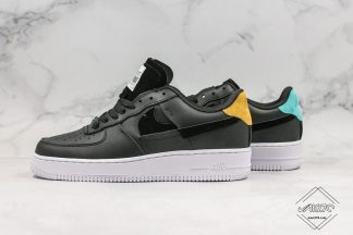 Black Nike Air Force 1 07 Lux Vandalized Inside Out
