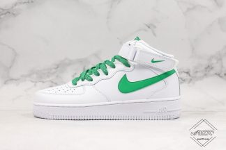 Nike Air Force 1 07 Mid White Green 3M