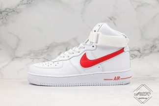 Nike Air Force 1 High White University Red