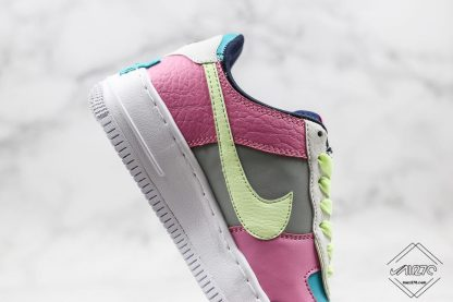 Nike Air Force 1 Shadow Barely Volt Oracle Aqua lateral