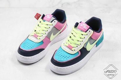 Nike Air Force 1 Shadow Barely Volt Oracle Aqua sneaker