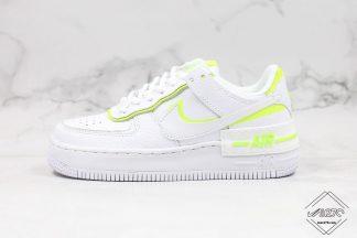 Nike Air Force 1 Shadow White Lemon Venom Volt