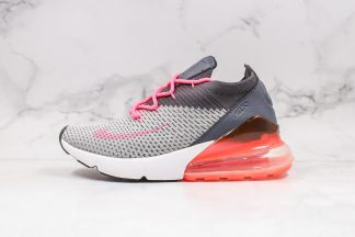 Nike Air Max 270 Flyknit Grey Pink in women size