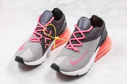 Nike Air Max 270 Flyknit Grey Pink lace