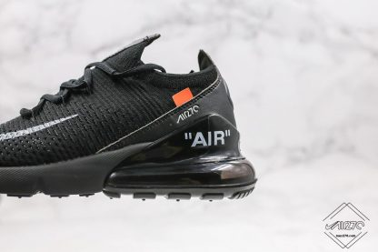 Off White Nike Air Max 270 Flyknit in Women Size black