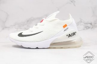 White Off White Nike Air Max 270 Flyknit WMNS Size