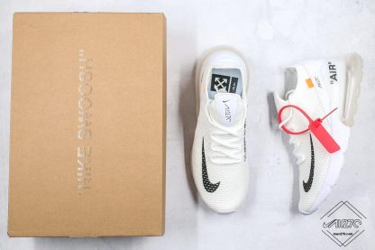 White Off White Nike Air Max 270 Flyknit WMNS Size tongue