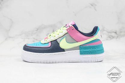 Wmns Nike Air Force 1 Shadow Barely Volt Oracle Aqua