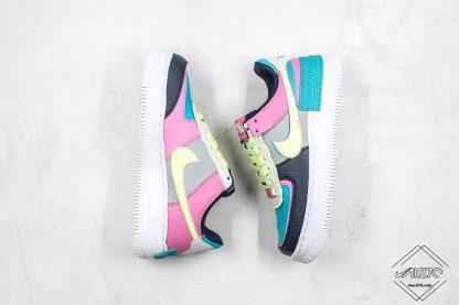 Wmns Nike Air Force 1 Shadow Barely Volt Oracle Aqua swoosh