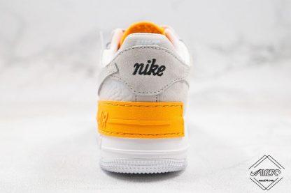 AF1 Shadow Vast Grey Laser Orange heel