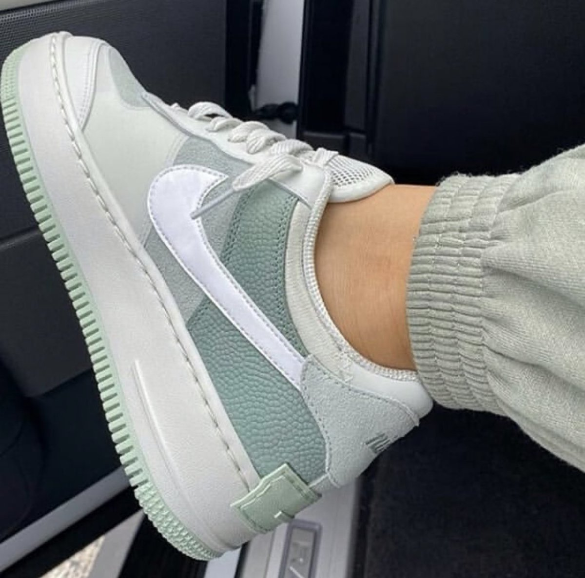 Air Force 1 Shadow Pistachio Frost CW2655-001 on feet