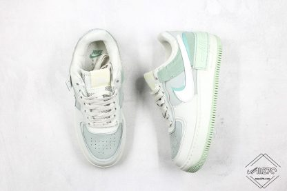 Nike Air Force 1 Shadow Pistachio Frost tongue