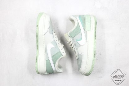 Nike Air Force 1 Shadow Pistachio Frost white swoosh