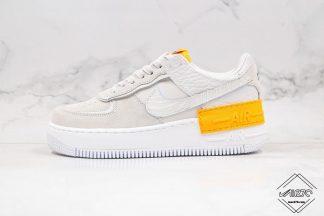 Nike Air Force 1 Shadow Vast Grey Laser Orange