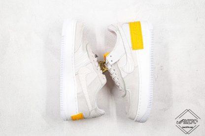 Nike Air Force 1 Shadow Vast Grey Laser Orange Sneaker