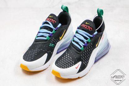 Nike Air Max 270 Black White Yellow shoes