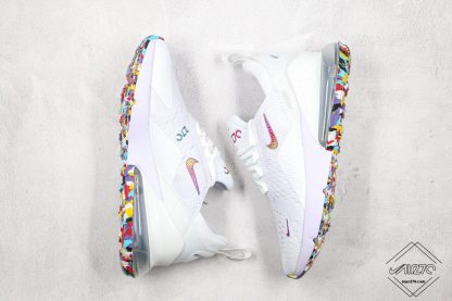 Nike Air Max 270 White With Colorful lateral swoosh