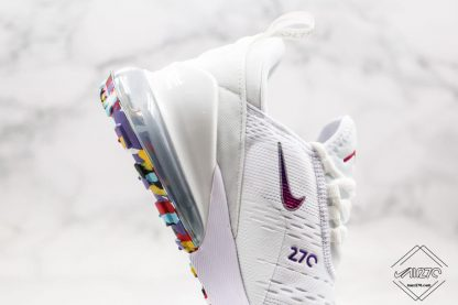 Nike Air Max 270 White With Colorful sole