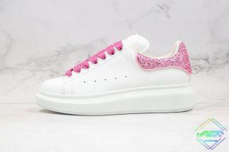 Alexander McQueen White Galaxy Glitter Sneaker