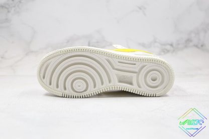 Nike Air Force 1 Sail Opti Yellow bottom sole