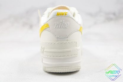 Nike Air Force 1 Sail Opti Yellow heel