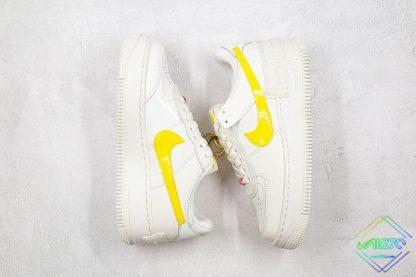 Nike Air Force 1 Sail Opti Yellow swooshes