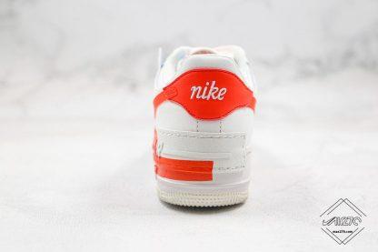 Nike Air Force 1 Shadow SE Team Orange heel