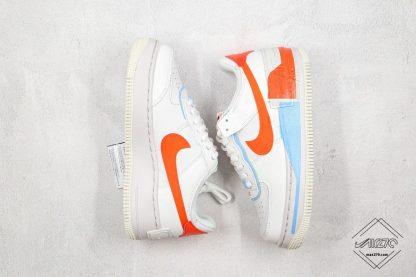 Nike Air Force 1 Shadow SE Team Orange swoosh