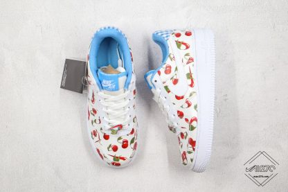 Nike Air Force Low White Cherry blue inner