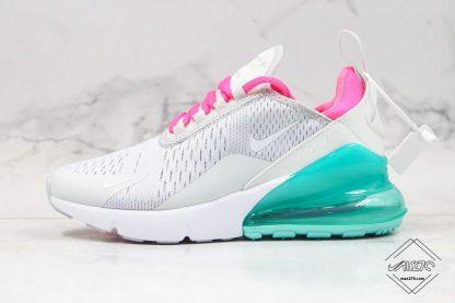 Nike Air Max 270 South Beach Grey Pink Teal