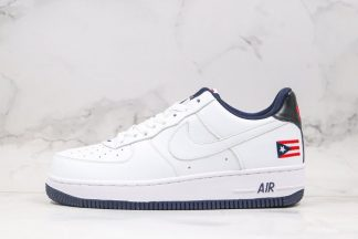 2020 Nike Air Force 1 Puerto Rico True White Obsidian-Comet Red