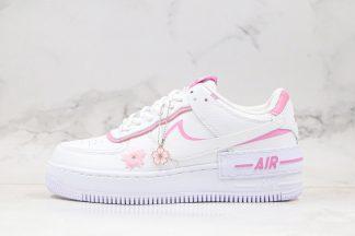 Nike Wmns Air Force 1 Shadow Magic Flamingo White Cherry Blossom Pink