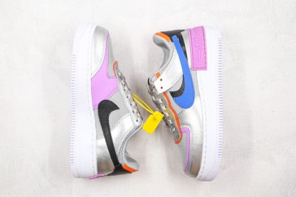 Womens Nike Air Force 1 Shadow Metallic Silver Fuchsia Glow top