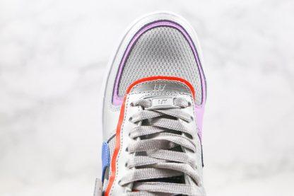 Womens Nike Air Force 1 Shadow Metallic Silver Fuchsia Glow upper