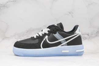 Men and Womens Nike Air Force 1 React QS Black