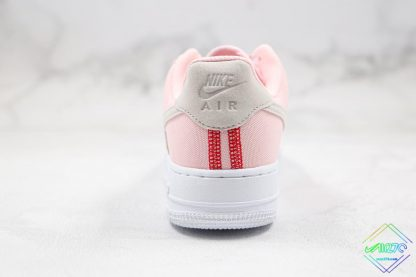Nike Air Force 1 07 LX Silt Red Soft Pink heel
