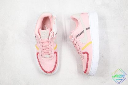 Nike Air Force 1 07 LX Silt Red Soft Pink tongue